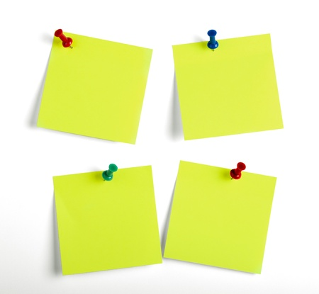 to do list: Yellow reminders notes isolated on the white background.