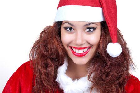 Beautiful and sexy woman wearing santa clause costume  Stock Photo - 16790877