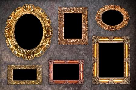 studio picture: Set of Vintage gold picture frame