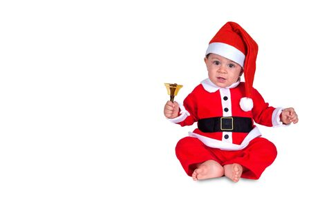 cute Christmas baby on white background Stock Photo - 17045854