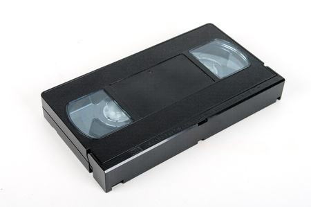 superseded: VHS tape isolated on a white background