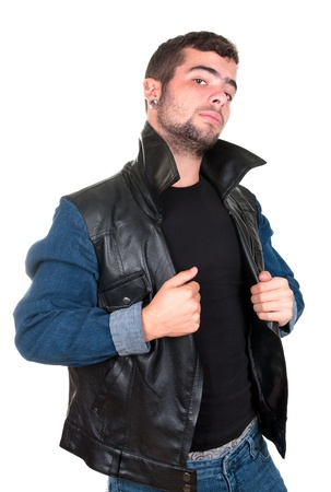 Portrait of a young man in a defying attitude Stock Photo - 17642817