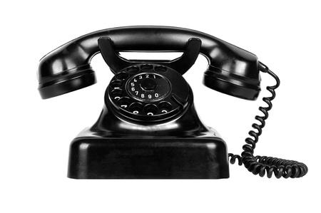 retro phone: Old vintage phone isolated on white background Stock Photo