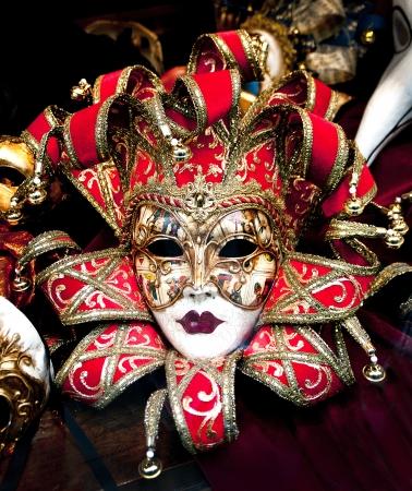 Colorful Venetian carnival masks for sale. Stock Photo - 18375833
