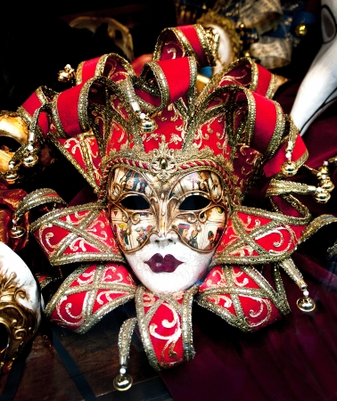 Colorful Venetian carnival masks for sale.  Stock Photo - 18375833