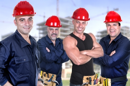 Industrial contractors workers people photo