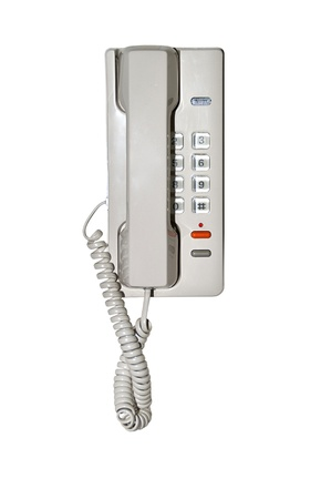 old phone: vintage wall Phone on white background