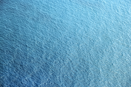 aerial view over the blue sea