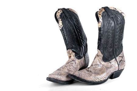 Python Cowboy Boots on white background Stock Photo - 18996778