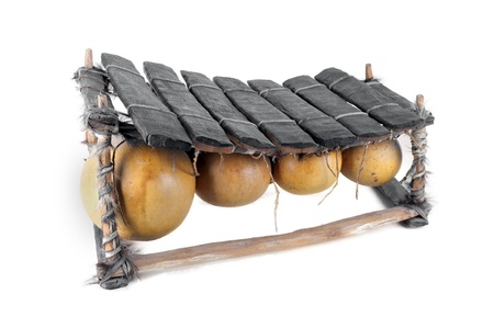 balafon, african musical instrument of wood and gourds,  Stock Photo