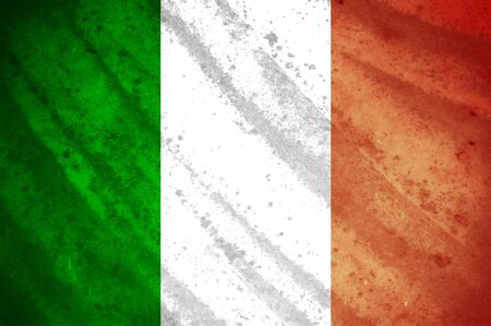 Grunge flag of ireland photo