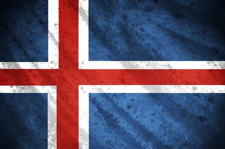 Grunge flag of iceland photo