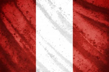 bandera de peru: Grunge bandera del Per? Foto de archivo