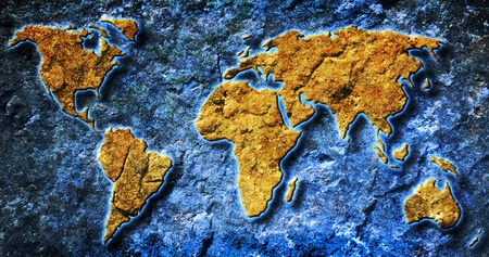 oversea: grunge world map texture and background