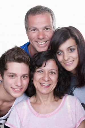 parent and teenager: Portrait of happy parents with teenagers