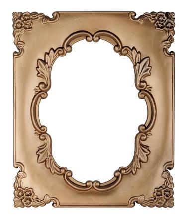 óvalo: Marco de oro Retro - Oval, en el fondo blanco
