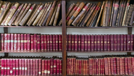 antiquary: olds accounting books on library