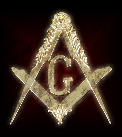 freemasonry: ancient freemasonry golden medal  square & compass