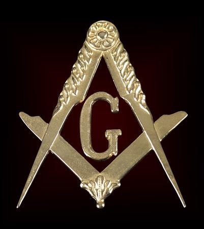 ancient freemasonry golden medal  square & compass