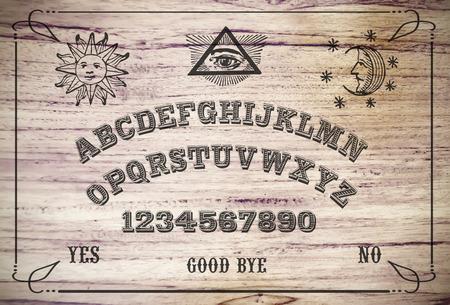 Ouija Board. Ouija style talking spirit board.