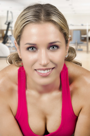 Young adult fitness woman in the gym Imagens