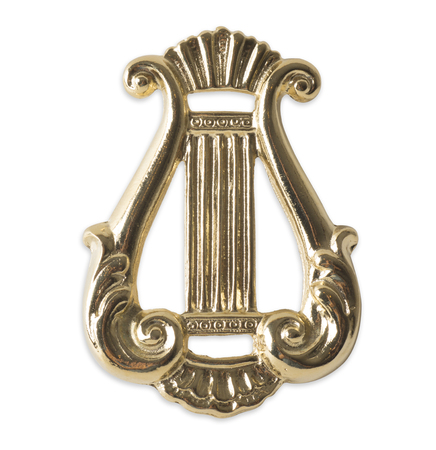 freemasonry: Blue Lodge officerJewel. organist. Freemasonry Stock Photo