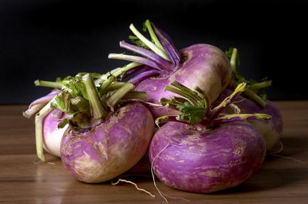 rutabaga: raw fresh red turnips selective focus