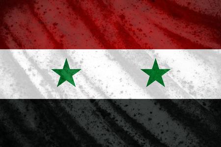 Syria: Grunge Syria flag
