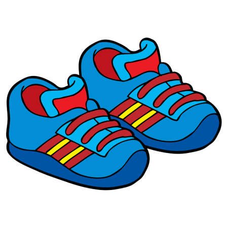 blue shoes vector illustration. isolated on white background.Top view Ilustración de vector