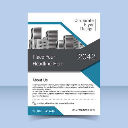editable corporate flyer template design Ilustración de vector