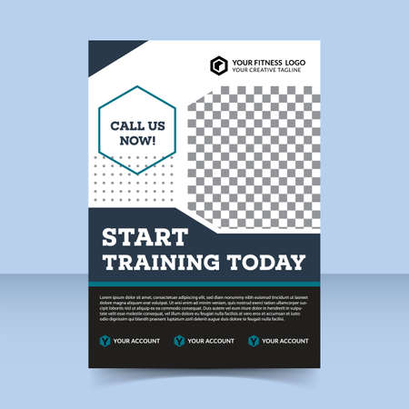 Fitness Center Start Training Today flyer template design Women fit body