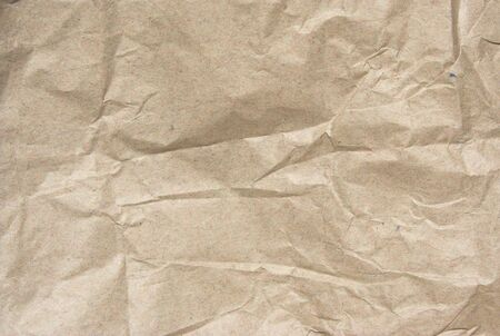 a piece of crumpled wrapper paper