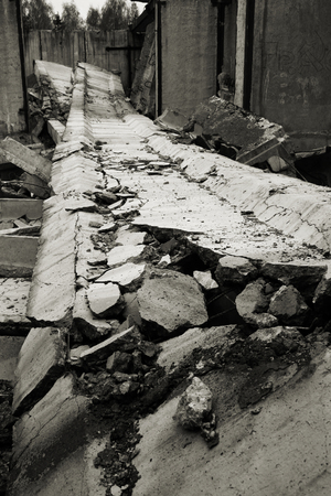 Destroyed building, a picture of a total destruction. Stock Photo - 1657018