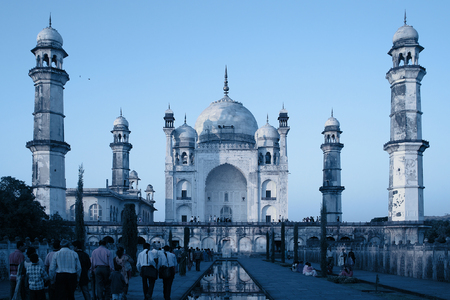 Bibi-Ka Maqbara, also called Little Taj Mahal, a monument of love in Aurangabad, India. Stock Photo