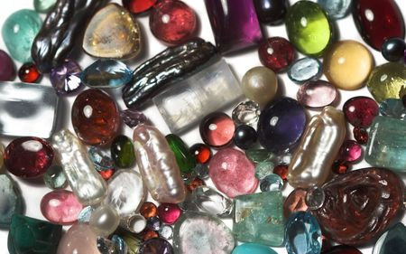 semiprecious: Close-up of semi-precious stones.