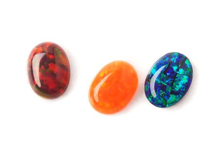 Jeweler stones - lab grown opals of wonderful colors and fire.