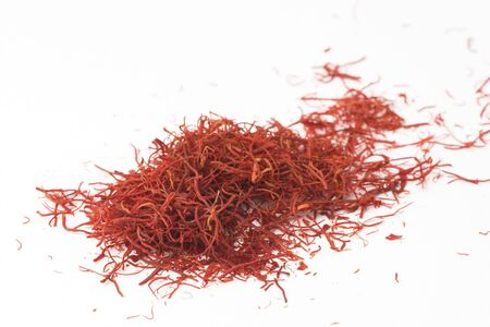 A pile of red Indian saffron, shallow dof. Stock Photo - 3762351