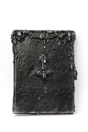 witchcraft: Handmade Book of Shadows (dark witchcraft spellbook) Stock Photo