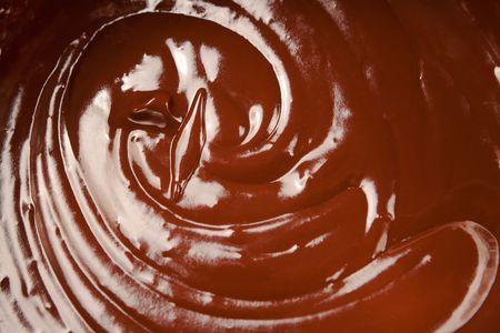 Close up of melted milk chocolate swirl. Stock Photo - 6522258
