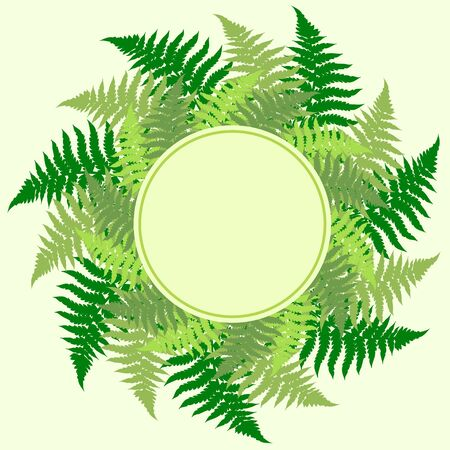 room for your text: Fern leaves frame with room for your text.