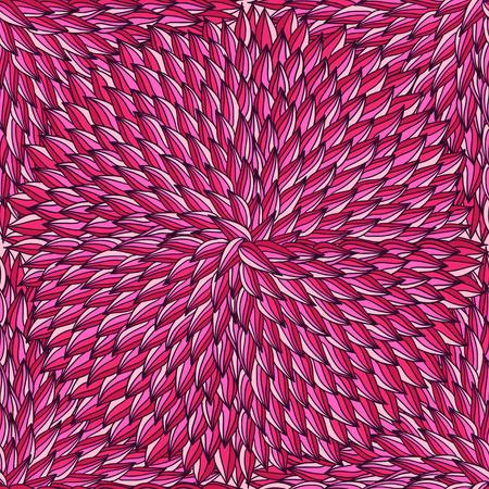 Hand-drawn doodle hot pink petals seamless pattern