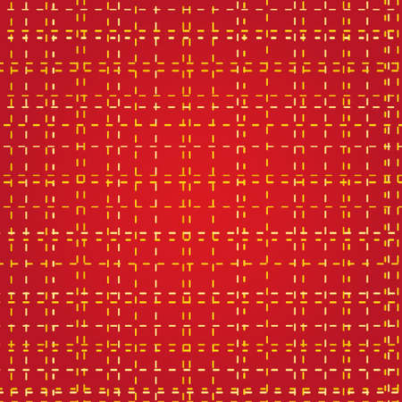 Abstract red and golden chequered Christmas pattern. Vector