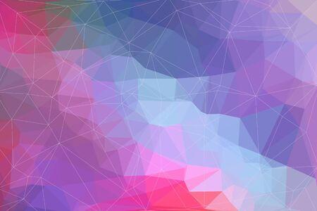 fondo geometrico: Fondo geom�trico abstracto del rosa y morado compuesto por tri�ngulos de colores.