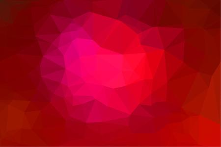 fondo geometrico: Fondo geom�trico abstracto de color rojo que consiste en tri�ngulos de colores. Vectores