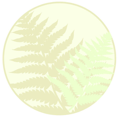 fronds: Pastel circle fern leaves background, good for adding text.