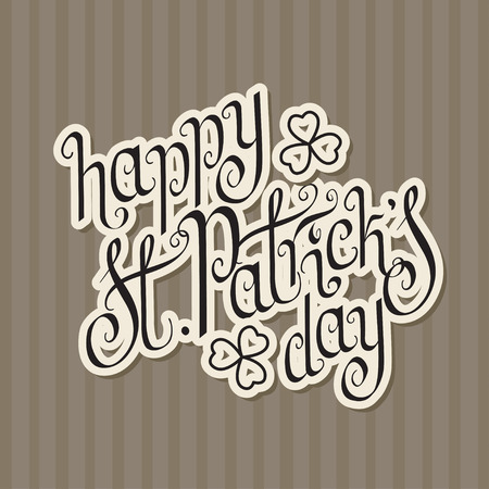 keltic: Paper cut hand written St. Patrick Illustration