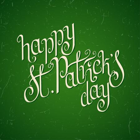 hand written: Hand written St. Patrick