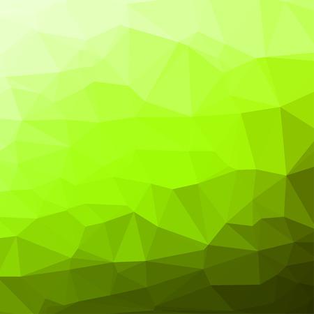 fondo geometrico: Fondo cuadrado abstracto geom�trico verde formado por tri�ngulos de colores. Vectores