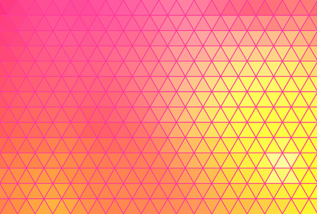 brightly: Abstract geometric background consisting of vibrant bright colored triangles.