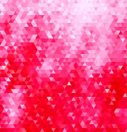 hot pink: Abstract geometric background consisting of hot pink triangles.